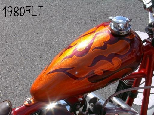 H-D 80FLT [Flames] Custom paint image