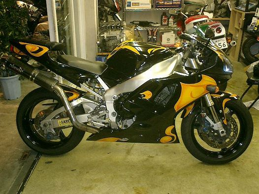 YAMAHA YZF-R1 [Danger Color Graphics] Custom paint image