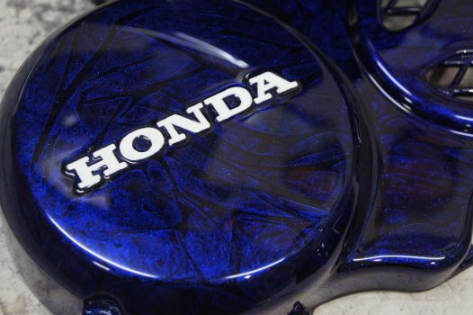 HONDA NSR50 [White & Blue Wrap] Custom paint image