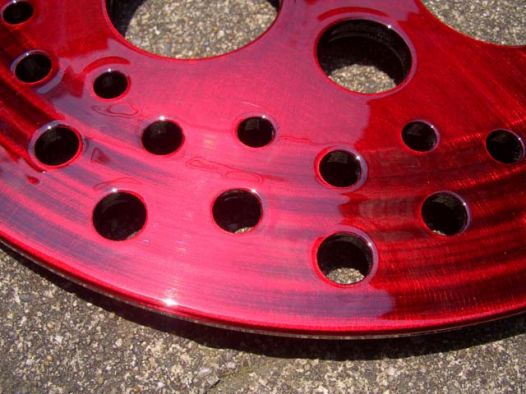 Disk Rotor Tray [Red Candy] Custom paint image