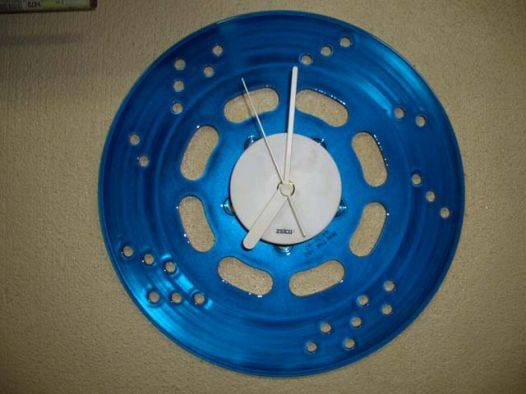 Disk Rotor Clock [Blue Candy] Custom paint image