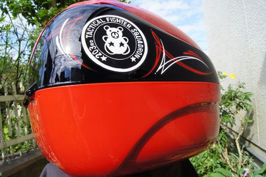 COOCASE [Red Pinstripes] Custom paint image