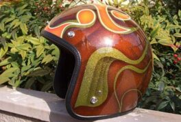 JET-HELMET [Brown Graphics]