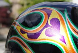 DUCKTAIL-HELMET [NARA Flames Green Purple]