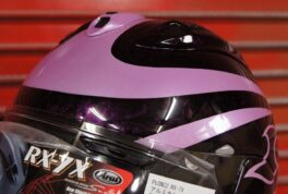 ARAI RX-7X [Purple Pearl Flames]