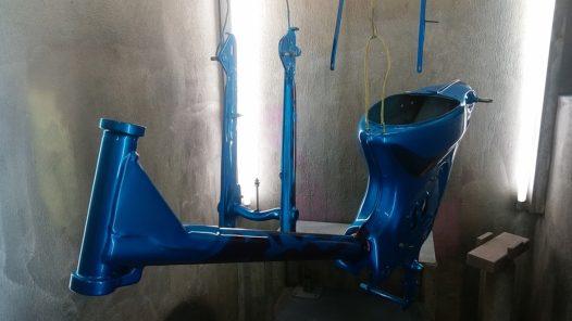 カスタムペイント工程 ホンダ カブの画像