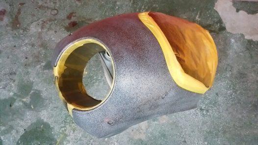 カスタムペイント工程 フェアリングの画像