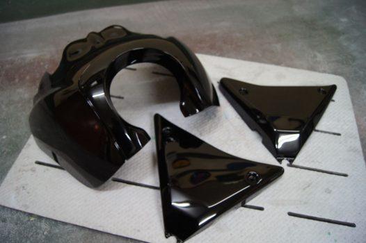 ペイント工程 FXR カウル&サイドカバーの画像