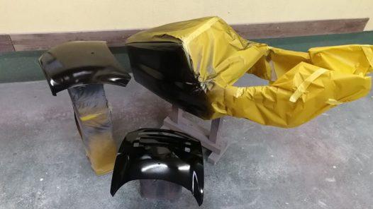 カスタムペイント工程  ホンダ NSR250 'バーガンディ'の画像