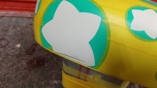 カスタムペイント工程 スズキ ハスラー ドアミラーカバーの画像