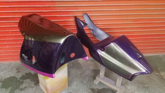 カスタムペイント工程 ホンダ NSR250 'パールパープル'の画像
