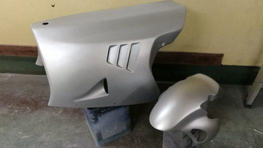 カスタムペイント工程 ホンダ NSR250 パーツ塗りの画像