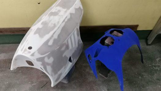 カスタムペイント工程 ホンダ NSR250 パーツ塗り バーガンディの画像
