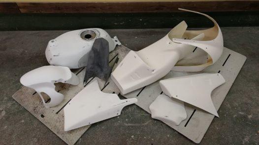 カスタムペイント工程 NSR50 'ゴーストフレイムス'の画像