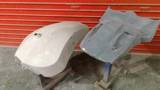 カスタムペイント工程  ハーレー FXBRSの画像